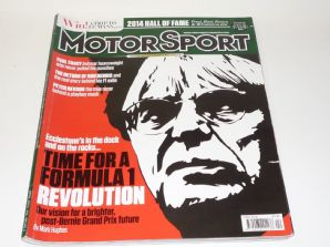 MOTOR SPORT 2014 April (F1 and Bernie, Paul Tracy, Peter Revson, F1 1970)